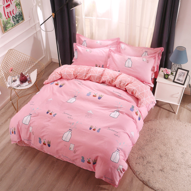 冠庭家纺 被套单件 全棉被套被罩纯棉学生宿舍床品单双人