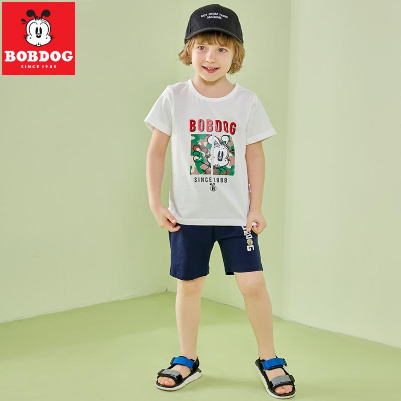 100%纯棉 巴布豆 儿童 T恤+短裤 两件套