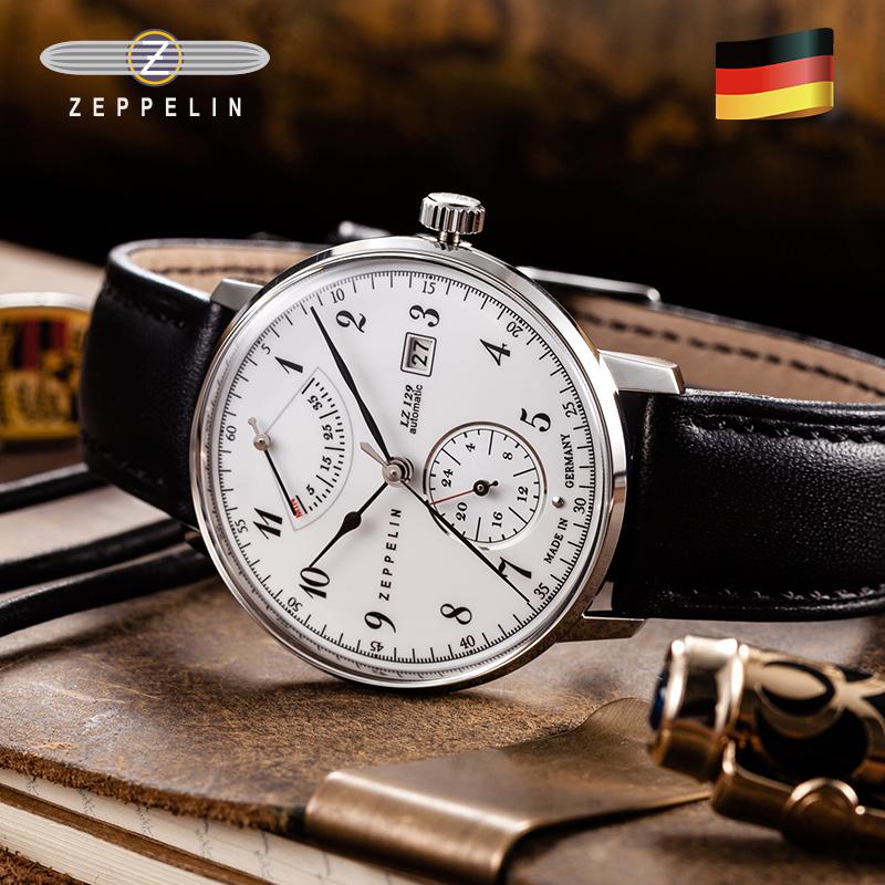 齐博林德国手表男商务腕表能量显示品牌自动机械男士手表齐柏林