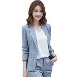 British style fashion plaid small suit suit female Korean temperament casual workplace occupational dress suit small fragrant wind