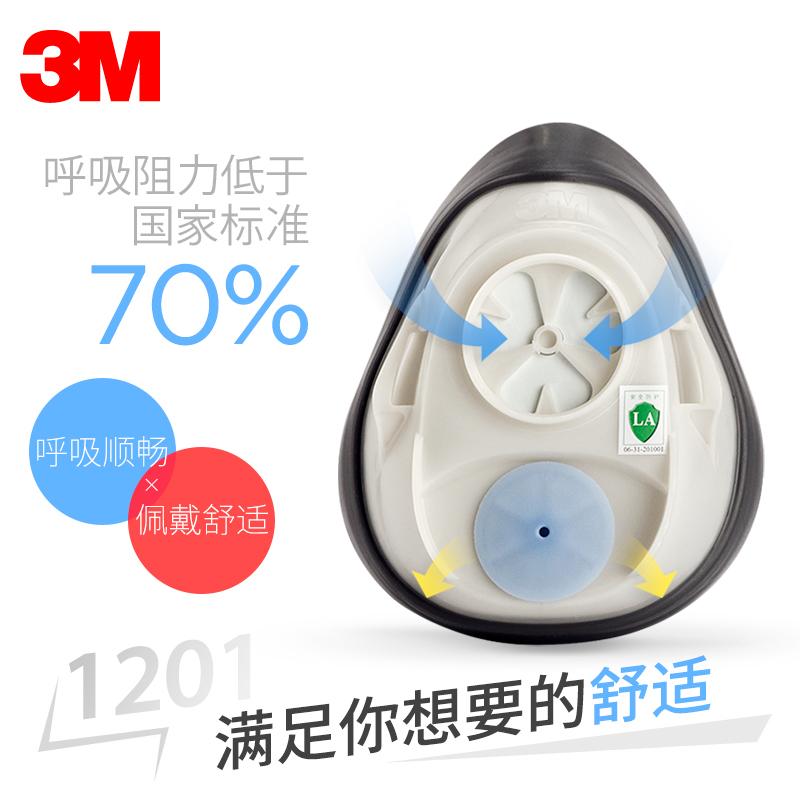 防毒面俱喷漆油漆甲醛工业粉尘专业防护面罩化工气体防异味口罩 3M