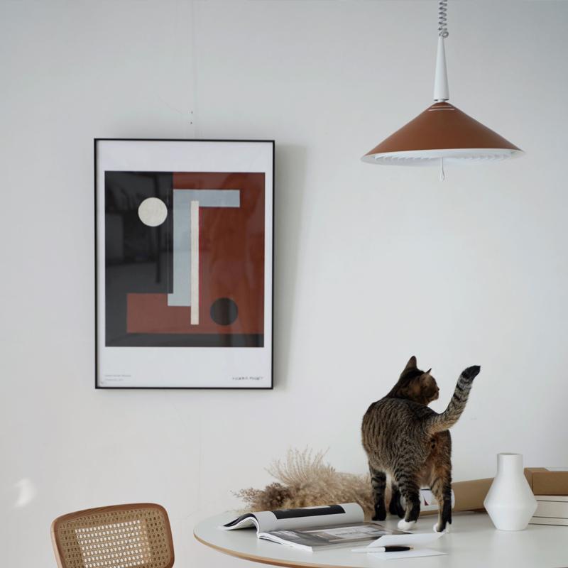 薄暮吊灯北欧现代简约设计师吊灯餐厅客厅书房可调节吧台 淡光