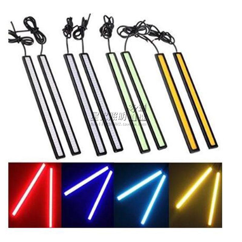 摩托车改装COB日行灯汽车配件LED装饰灯超亮通用灯条12V COB灯饰