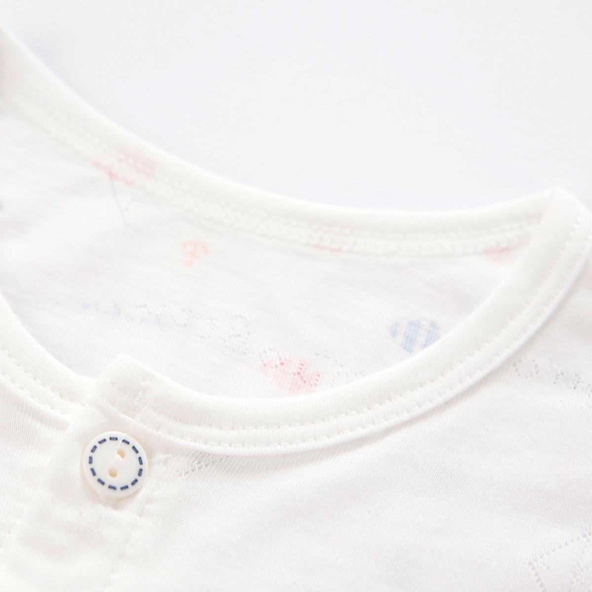 婴儿内衣套装宝宝睡衣空调服薄款提花竹纤维夏季3个月6开衫0-1岁2