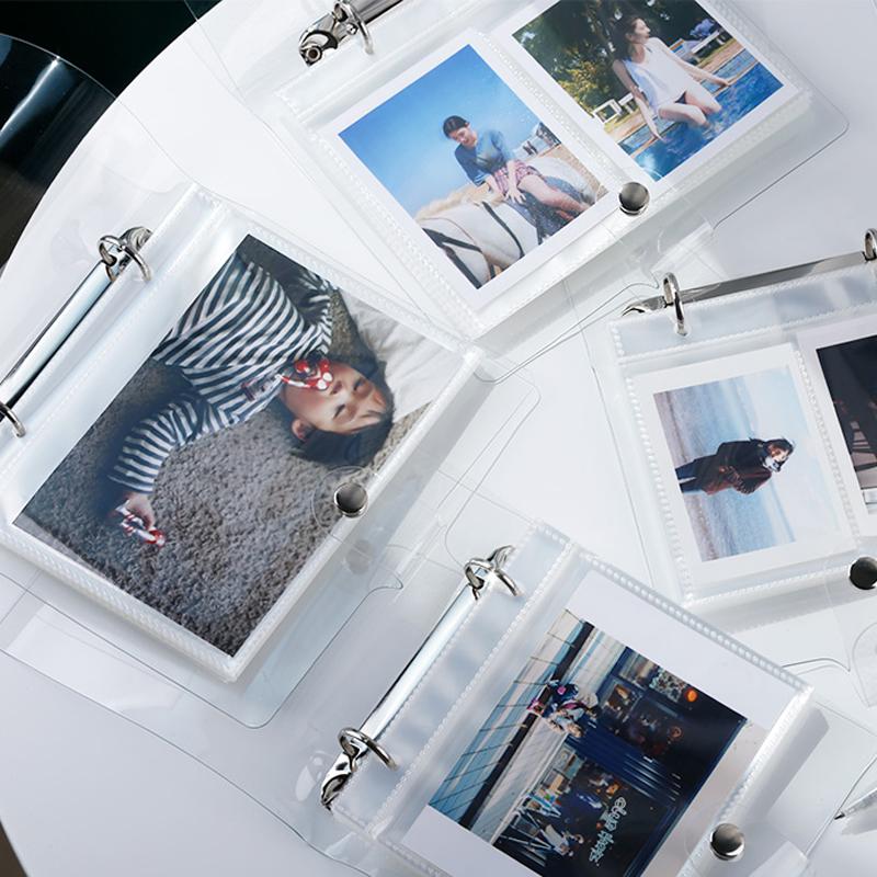 插页式自制3寸4寸透明拍立得照片收纳相册追星女孩爱豆小卡收纳册