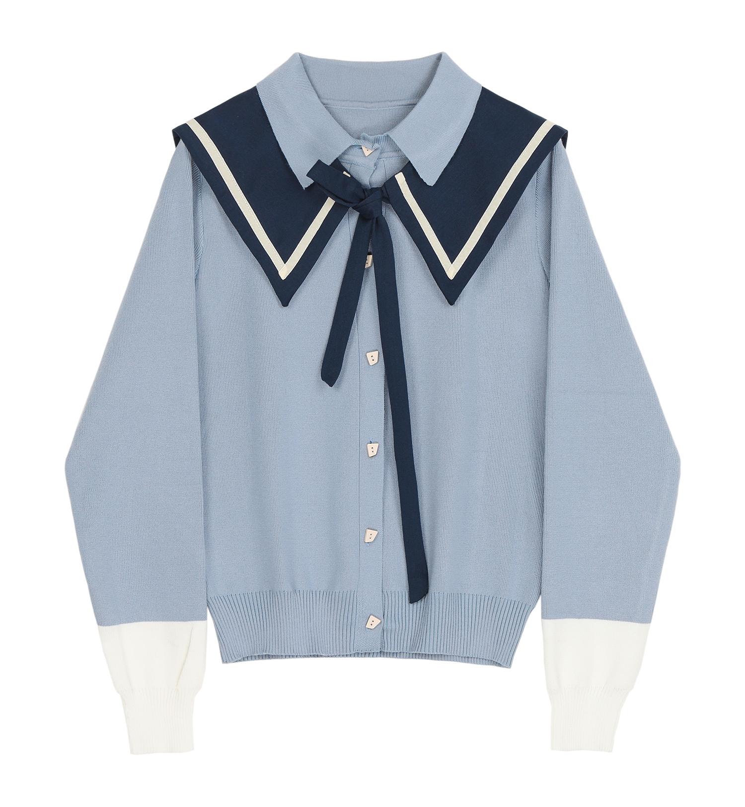 [现]毛衣套装裙女2021春装新款洋气减龄显瘦学院风半身裙子两件套主图
