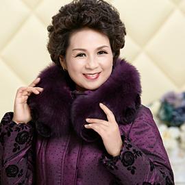 中老年羽绒服女大码女装中年人妈妈装中长款50-60-70老人加厚外套
