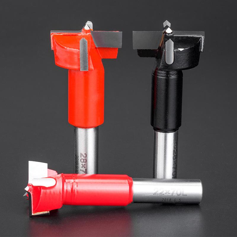 浪潮木工刀具排钻钻头打孔三合一开孔器数控合金钻头  Ф9.5-Ф16