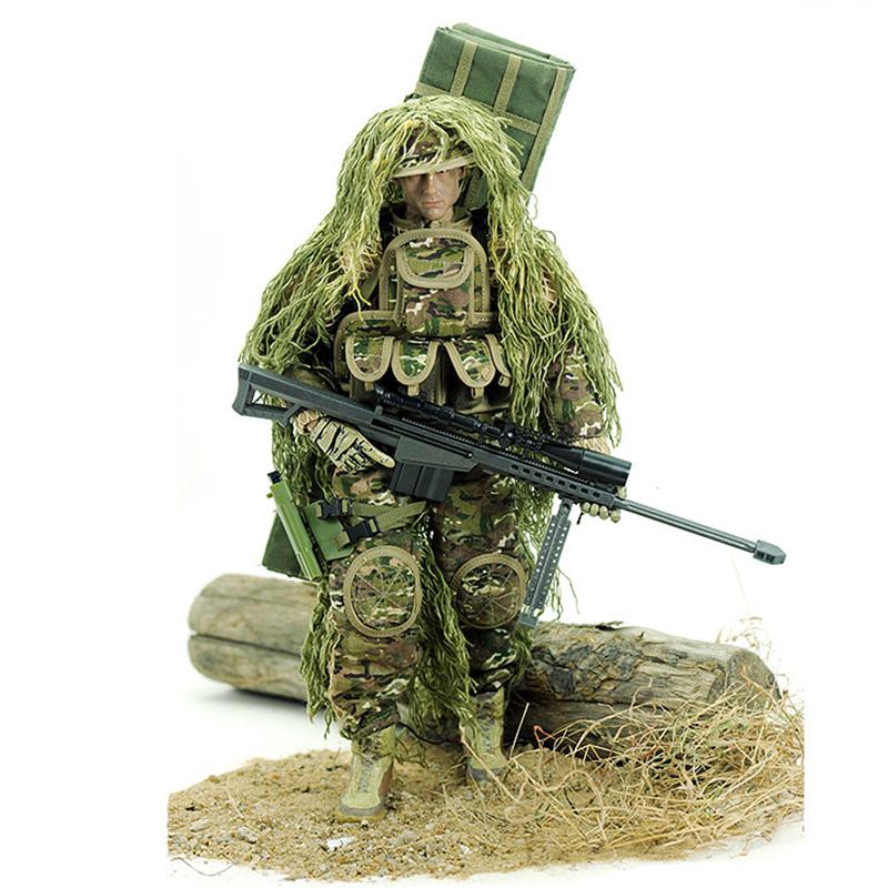 冠达狙击手1/6玩具兵人模型 12寸美军大兵吃鸡游戏人偶男军事模型