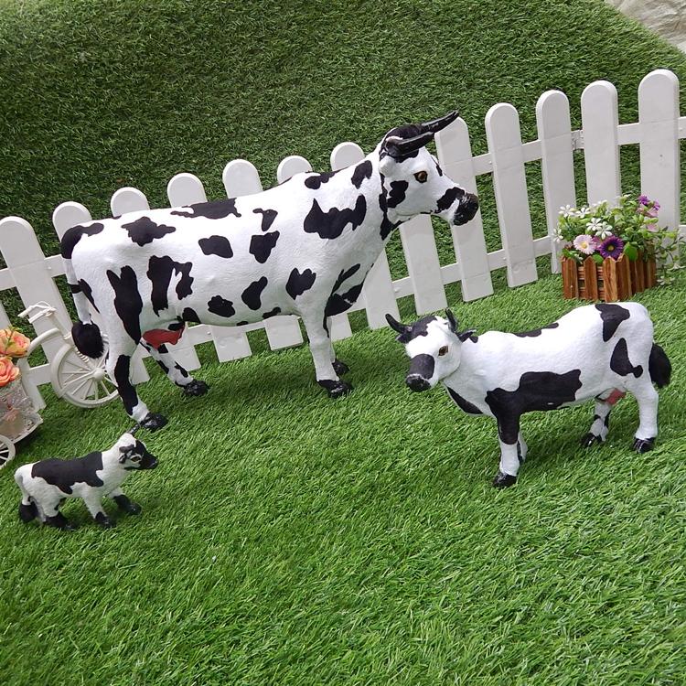 仿真奶牛模型标本小奶牛摆件奶制品道具毛绒玩具橱窗摆件仿真动物