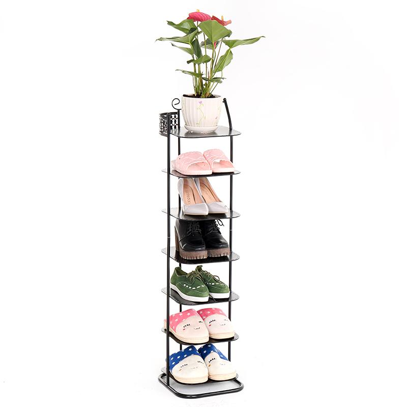 简约现代客厅多层铁艺鞋架经济型简易家用省空间金属收纳小鞋柜子