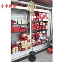 宇卓佛教用品纯铜禅杖九股黄铜铸造锡杖工艺品摆件 - 1