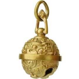 纯铜虎头清脆黄铜铃铛挂件古风饕餮银钥匙扣女辟邪小汽车吊坠复古