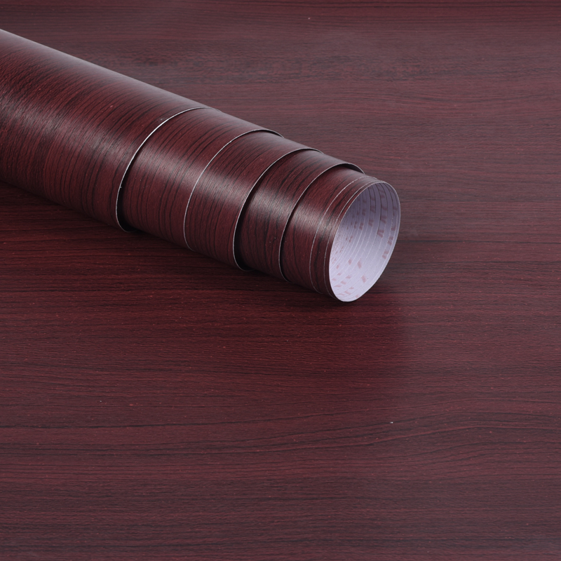 防水自粘木纹墙贴墙纸衣柜橱柜子旧房门家具翻新神器仿木纹贴 pvc