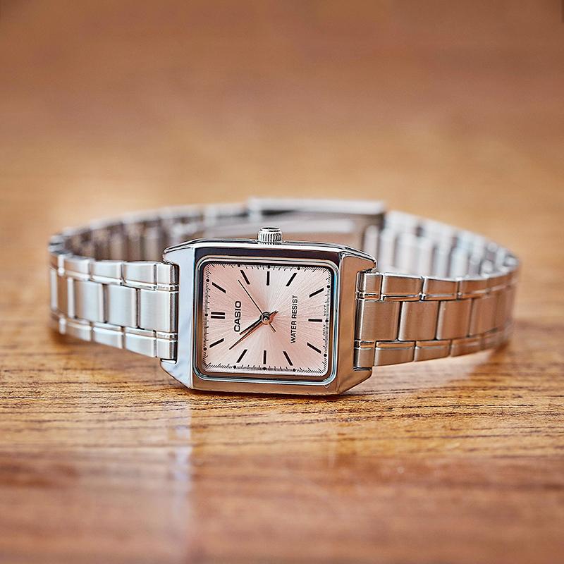 卡西欧复古小方表女款手表简约气质钢带防水casio石英表生日礼物
