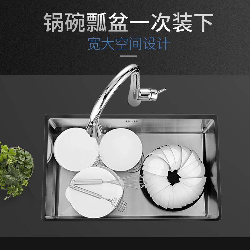 不锈钢水槽单槽小号手工水池厨房大洗菜盆吧台阳台单盆洗碗池 304