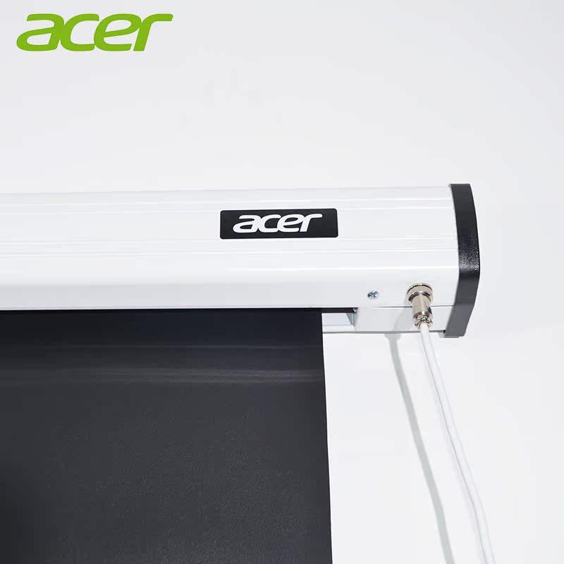 Acer宏碁 原装电动遥控投影幕 100英寸16:9高清白玻纤投影幕布 高清1080P/3D家用办公电动遥控升降投影幕布