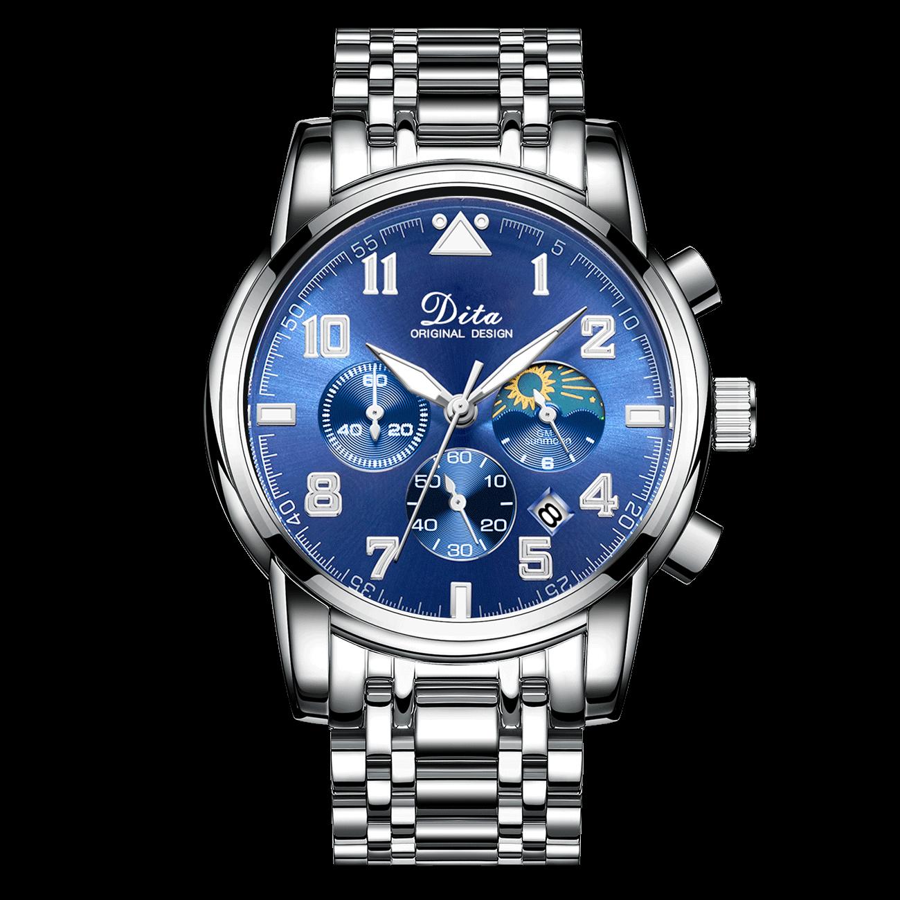 新款手表男士全自动机械表精钢潮流国产腕表男式夜光防水运动 2019