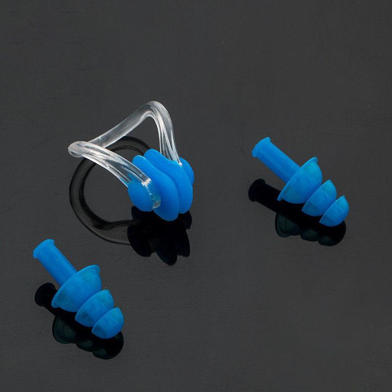 游泳鼻夾耳塞套裝防滑成人防嗆水專業游泳裝備兒童專用鼻子夾潛水