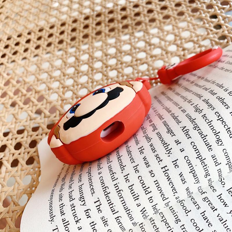 可爱卡通蘑菇头AirPods Pro保护套苹果3代无线蓝牙耳机防摔硅胶壳