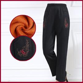 中老年女裤秋冬装加绒加厚休闲妈妈长裤奶奶裤子老人40-50-60岁
