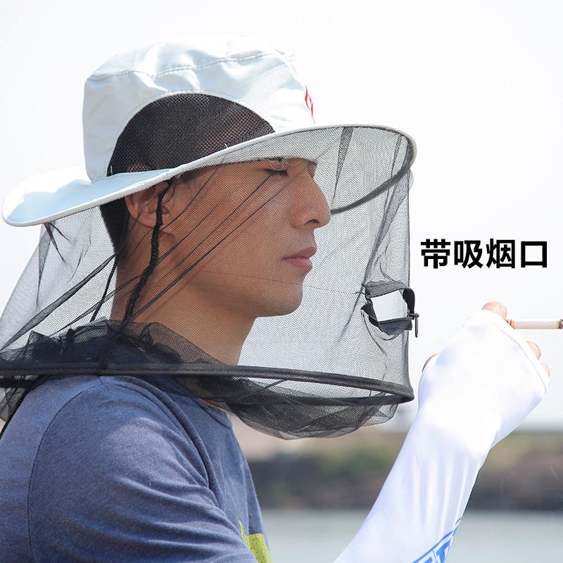 米卡诺 防蚊帽钓鱼帽子防晒帽遮阳帽防紫外线夜钓帽帐篷帽渔具