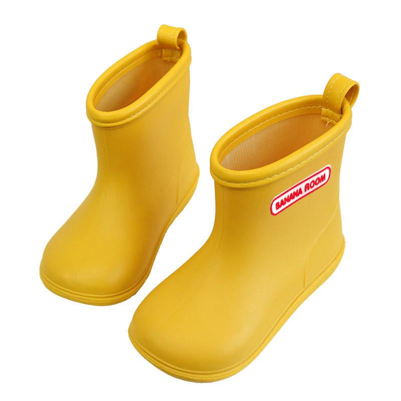 日本儿童雨鞋男童宝宝水鞋女童雨靴胶鞋小童幼儿小孩套鞋防滑春夏