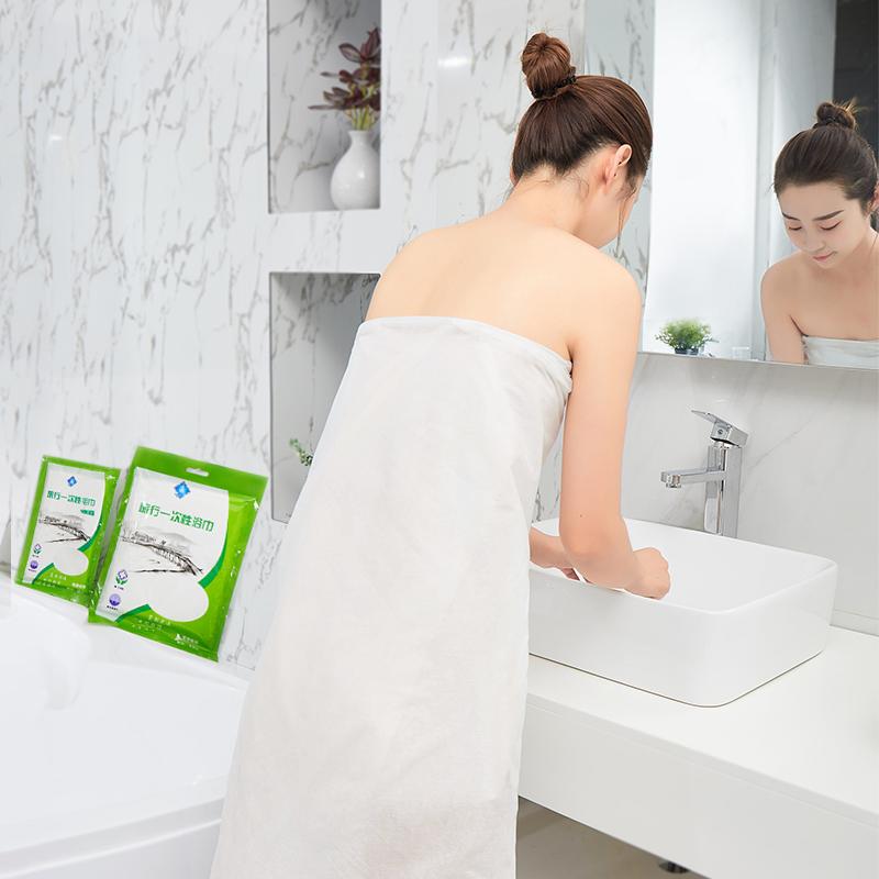 旅游用品一次性洗脸毛巾压缩浴巾非纯棉加厚大号旅行床单被罩枕套