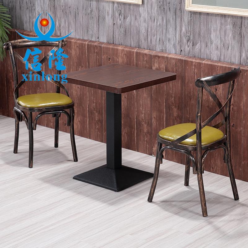 铁艺复古主题餐厅休闲咖啡厅西餐厅奶茶餐饮店工业风快餐桌椅组合