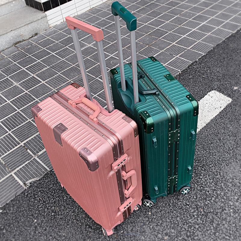 铝框登机 ins 拉杆箱旅行箱子韩版密码皮箱万向轮潮男女网红行李箱