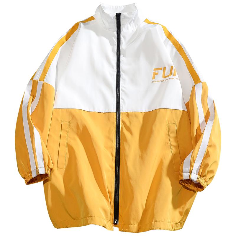 秋冬季加肥加大码立领中长款风衣男青年学生潮流运动工装夹克外套