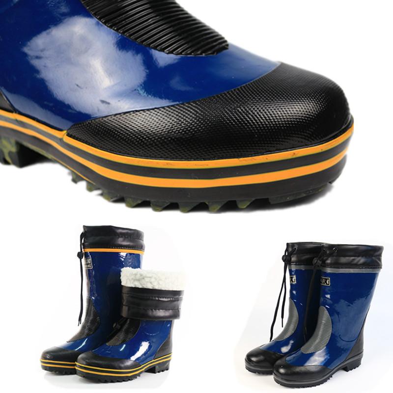 冬季高筒保暖雨鞋男加绒大码橡胶雨靴防滑胶鞋劳保胶靴加厚防水鞋
