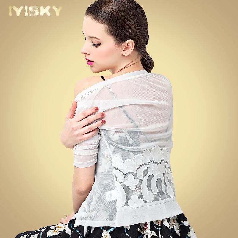 蕾丝披肩夏季配吊带网纱外搭开衫女小外套薄款小坎肩搭配裙子短款
