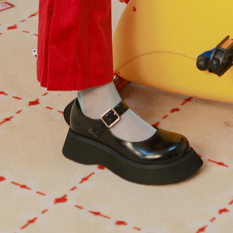 小单鞋 chic 制服鞋学院软妹 jk 新品复古玛丽珍鞋女秋厚底 littlegood