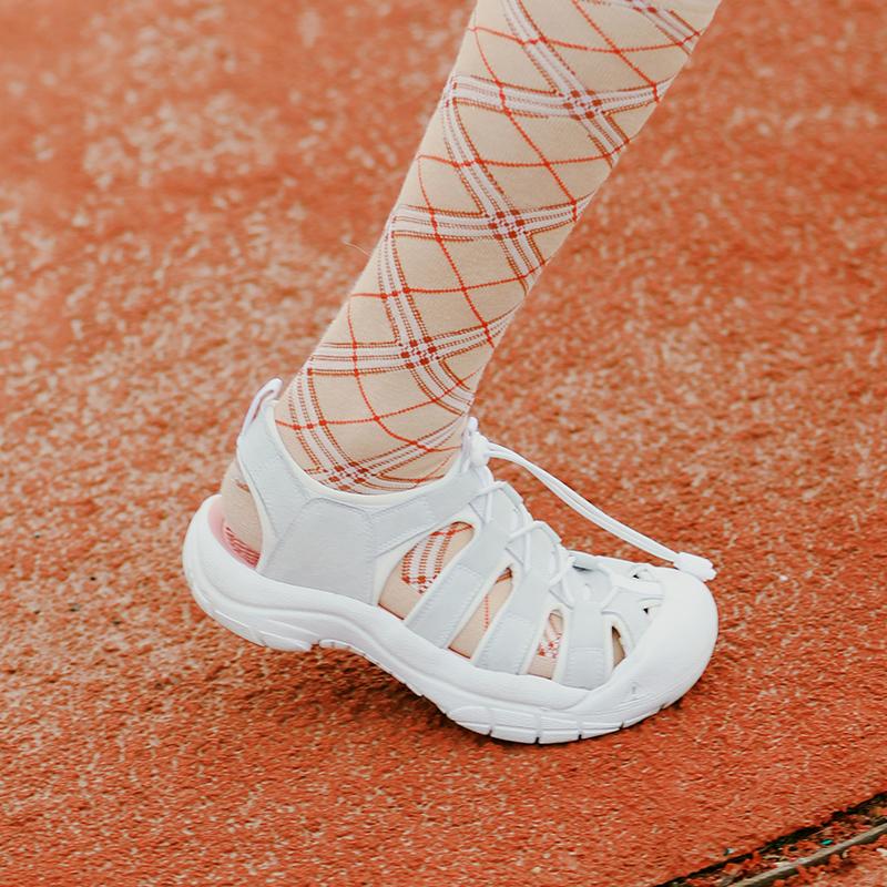 新品复古运动凉鞋女夏洞洞鞋女沙滩鞋厚底学生摇摇底 littlegood
