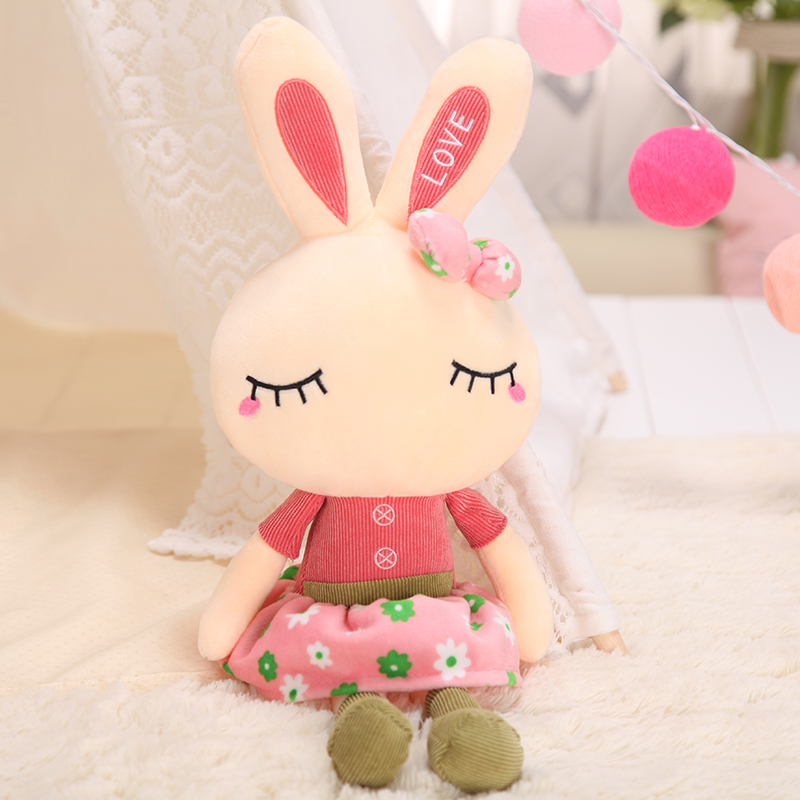 可爱兔子毛绒玩具女白兔布娃娃儿童萌抱枕生日礼物小玩偶公仔女孩