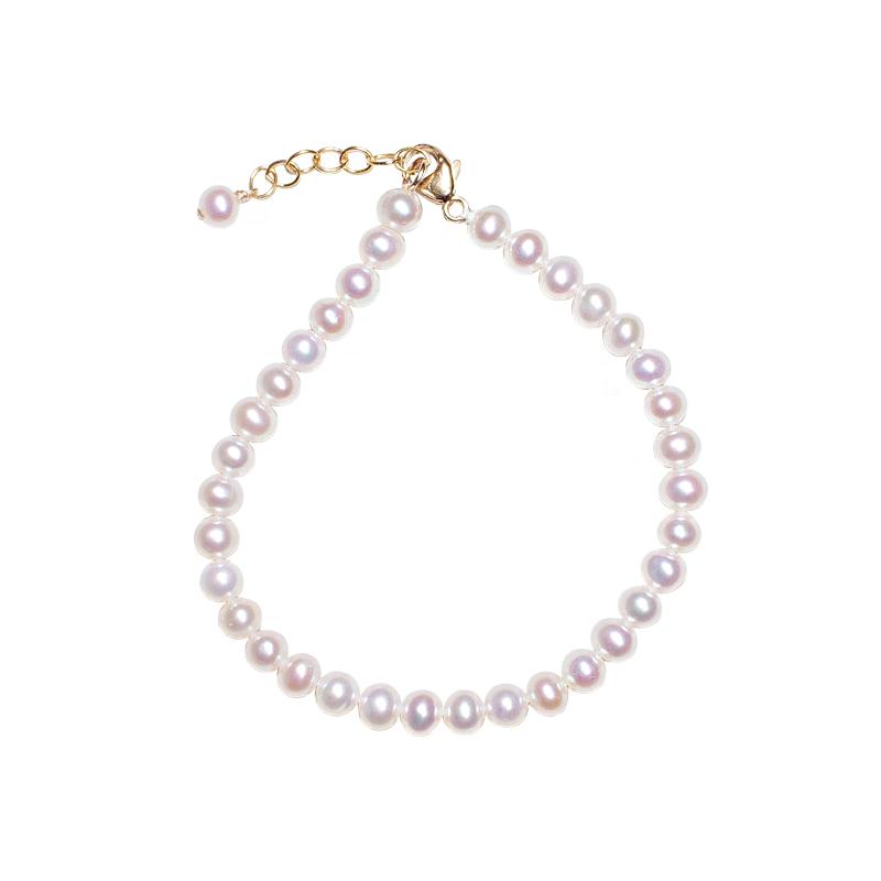 美国进口  包金米奇珍珠手链天然珍珠 14KGF 戴妮雅 可挂吊坠