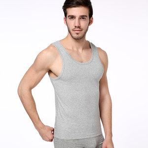 2件装舒雅内衣男士白纯色棉夏季背心运动跨栏打底无袖T恤汗衫5651