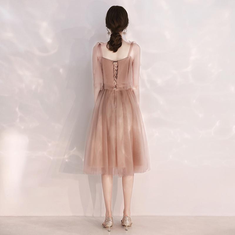 伴娘服仙气质2019新款夏季姐妹装毕业团晚礼服女中长款显瘦遮手臂