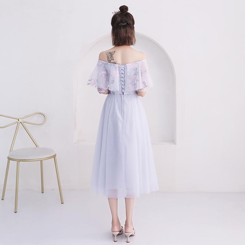 伴娘服中长款女2019新款夏夏仙气质伴娘裙晚礼服姐妹团显瘦遮手臂
