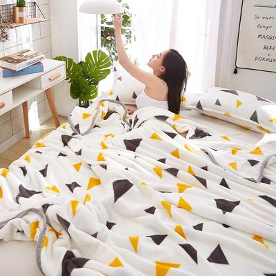 秋冬珊瑚绒毛毯法兰绒单人加厚学生毛巾被子午睡沙发空调盖腿毯薄 - 图3