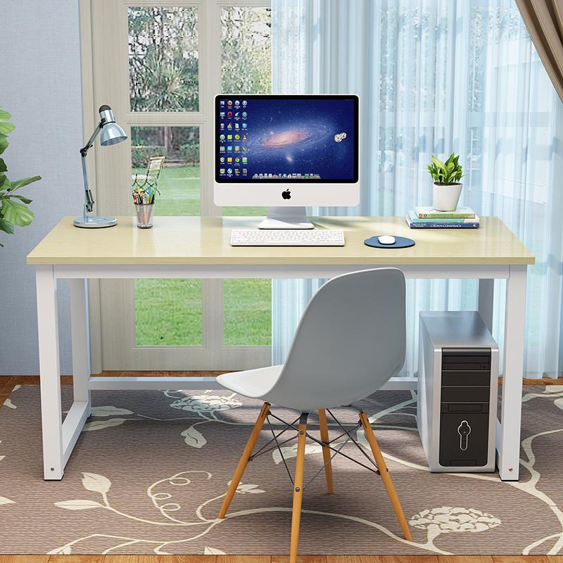 简约电脑桌台式家用现代桌子写字台简易学习桌钢木书桌双人办公桌