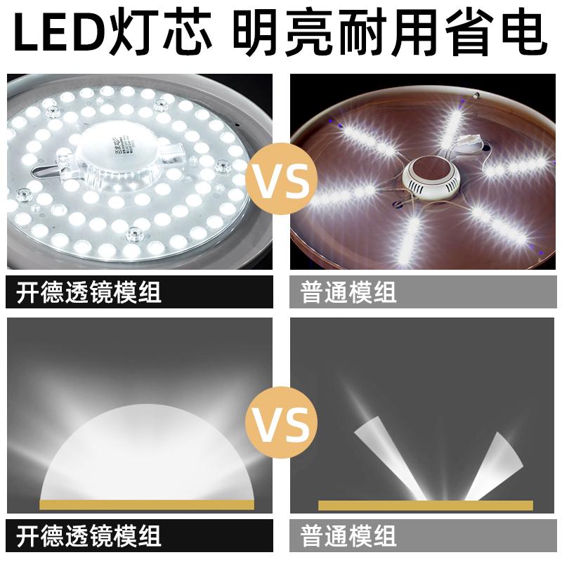 吸顶灯芯圆形遥控三色家用型超节能灯芯强光无频闪模组吸顶灯 led