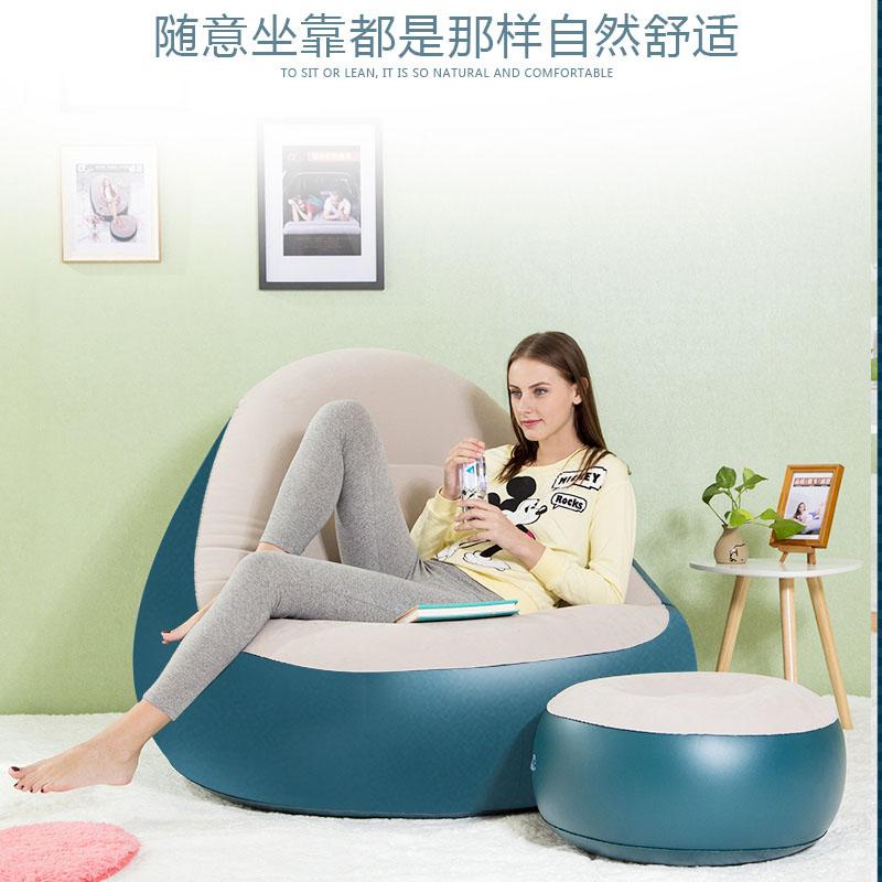 阿尔法懒人沙发单人阳台午睡充气小沙发床卧室创意可折叠懒人椅子