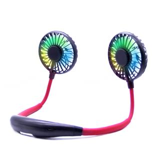 【发光小风扇】USB充电式挂脖小风扇