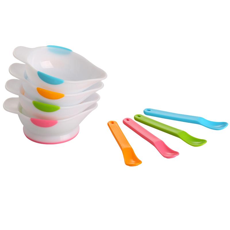 日康宝宝辅食碗勺儿童餐具套装新生儿防摔研磨小勺子婴儿幼儿吃饭