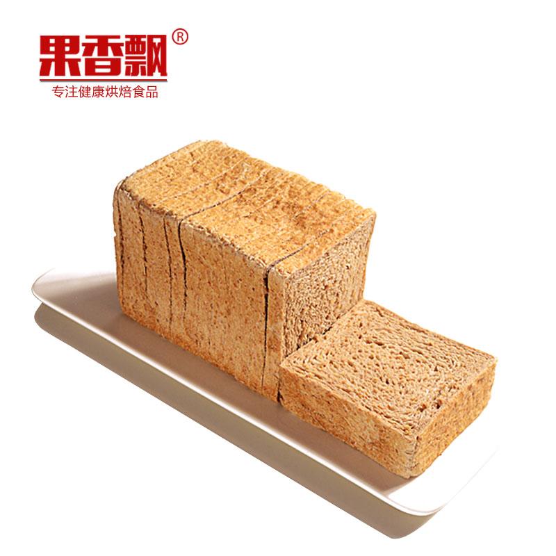全麦面包吐司无蔗糖无油食品早餐粗粮土司低健身代餐饱腹卡脂热量