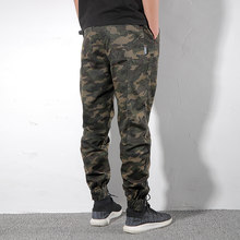Autumn casual stretch camouflage pants trendy brand Slim Shawn Shawn overalls men's pants army green trousers trend