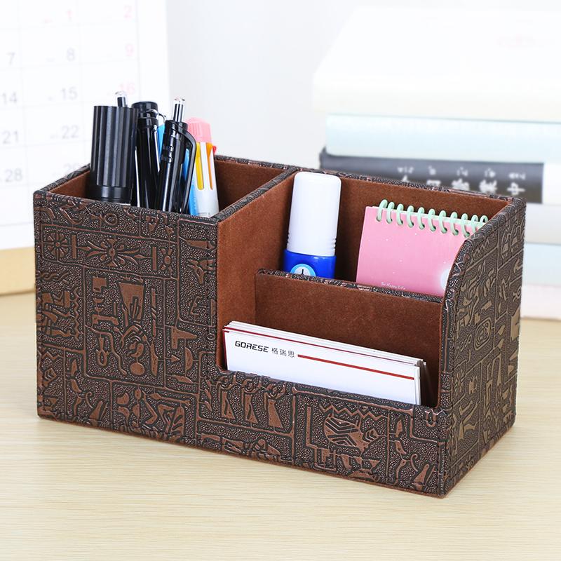 办公室笔筒收纳盒大气创意时尚多功能高档桌面文具用品北欧小清新
