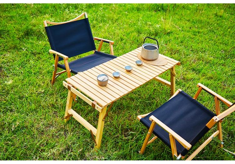 克米特椅户外露营实木武椅自驾游野炊钓鱼便携折叠休闲椅榉木橡木